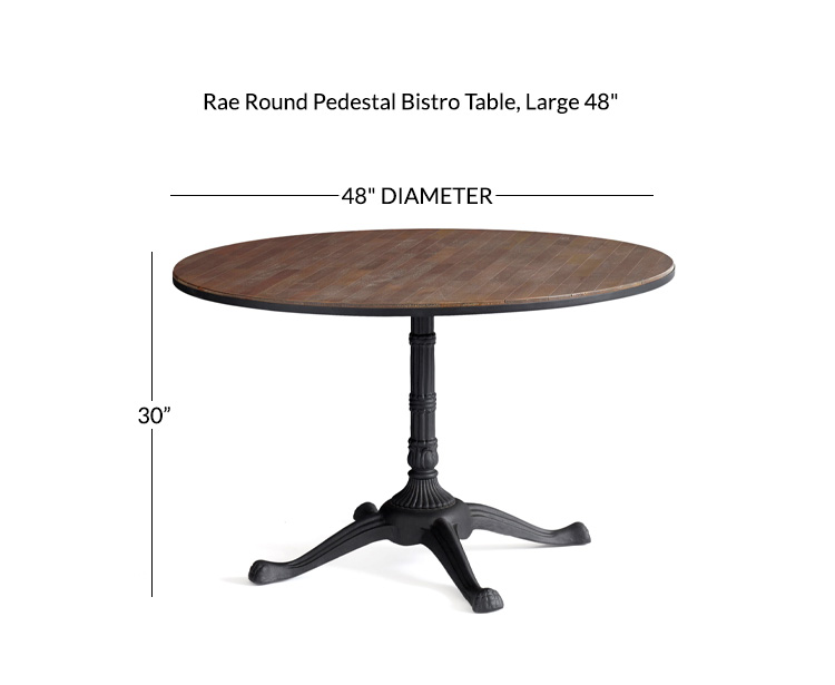 Rae Round Pedestal Bistro Dining Table Pottery Barn