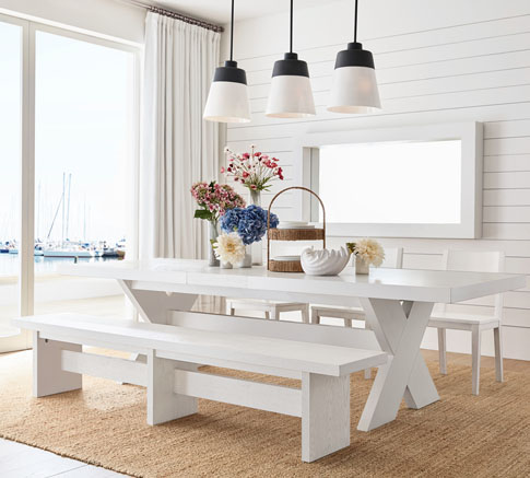 Table Linens Modern Farmhouse Dining Room Pottery Barn