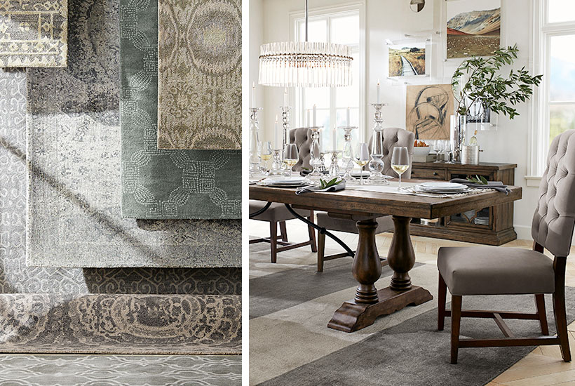 How To Choose The Perfect Rug For Your Dining Room Pottery Barn