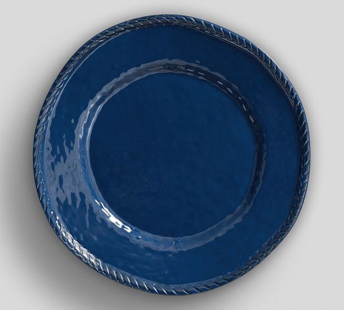Rope Melamine Dinner Plate Indigo Pottery Barn