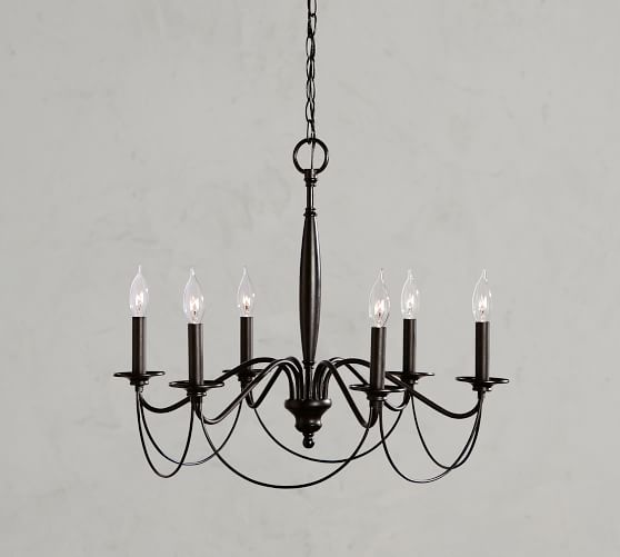 Graham Iron Chandelier Pottery Barn