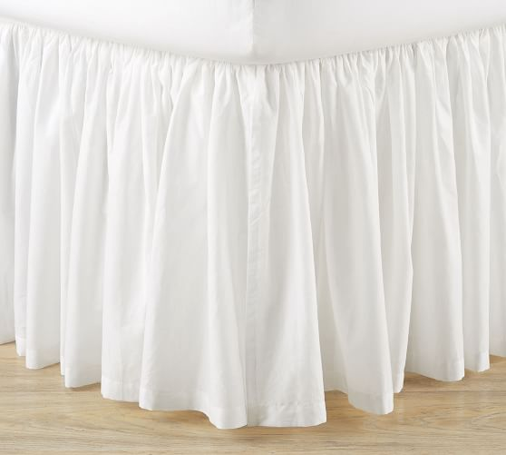 Voile Cotton Bed Skirt Pottery Barn