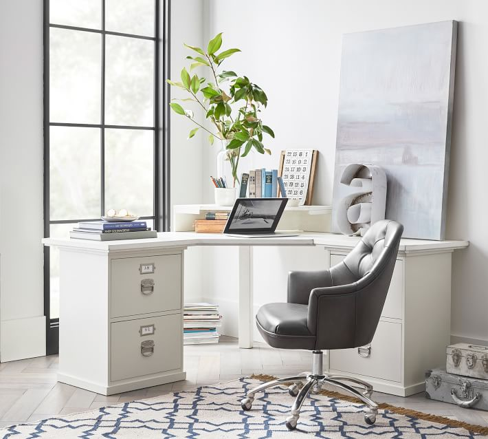 Bedford Corner Desk With Drawers