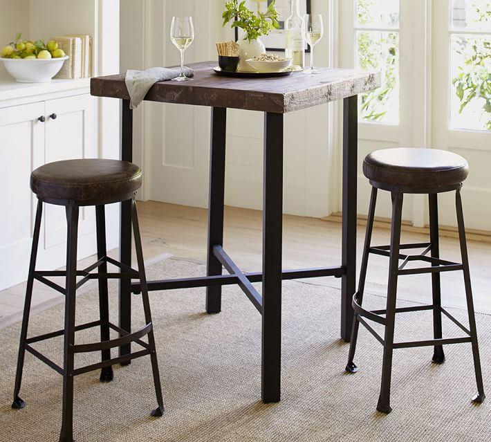 Griffin Reclaimed Wood Bar Height Table
