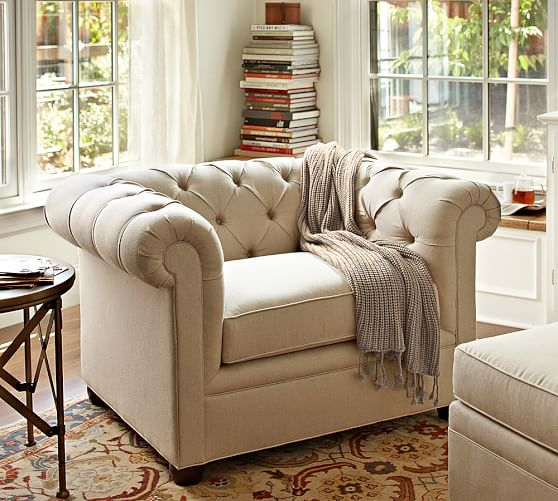 Roll Arm Upholstered Armchair