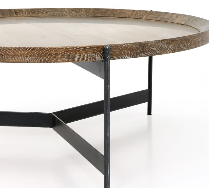Norcross 40 Quot Round Coffee Table Pottery Barn