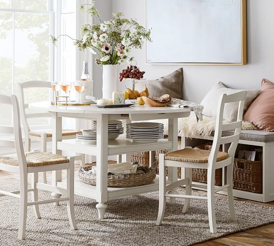 Shayne Round Drop Leaf Kitchen Table | Pottery Barn