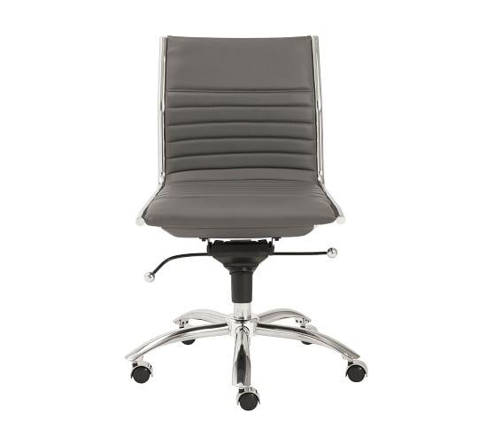 Fowler Armless Swivel Desk Chair