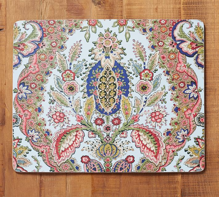 Florentine Paisley Cork Placemat Set Of 4 Pottery Barn