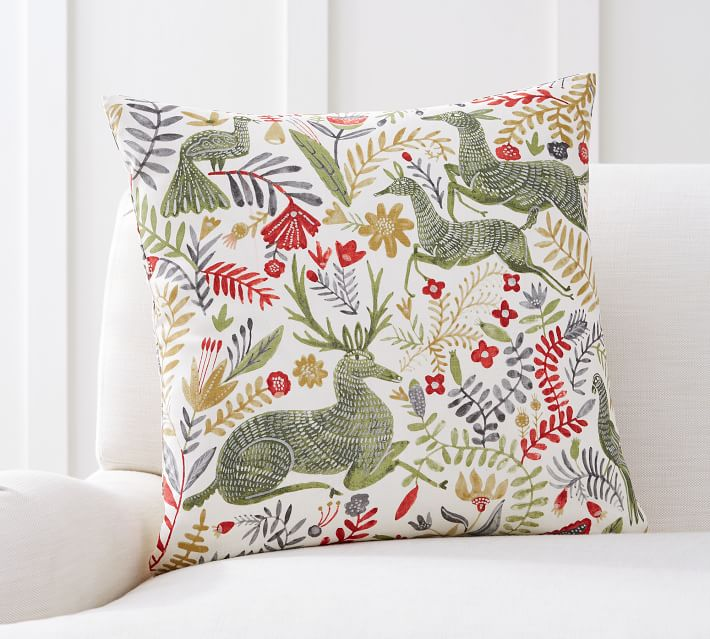 Llew Deer Print Decorative Pillow Cover Pottery Barn
