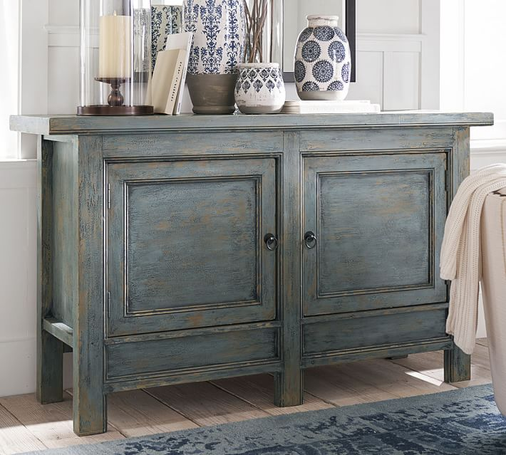 Molucca 62 Quot Media Console Pottery Barn