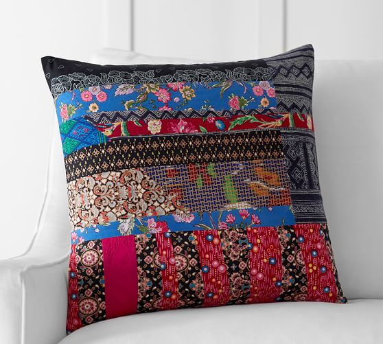 Pauline Boyd Patchwork Apple Blossom Pillow Cover