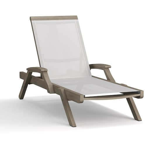 Mesh Stacking Outdoor Chaise Lounge