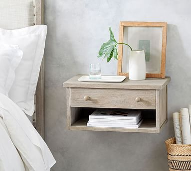 Farmhouse Floating Nightstand Pottery Barn
