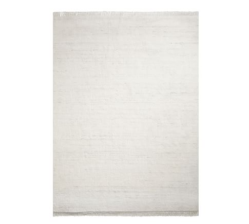 Solid Shag Eco Friendly Easy Care Rug Swatch Ivory Multi