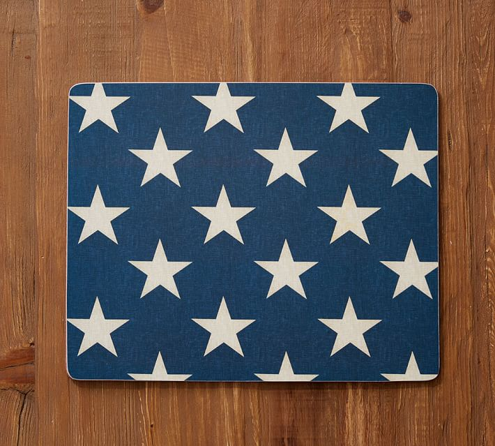 American Flag Stars Cork Placemat Pottery Barn