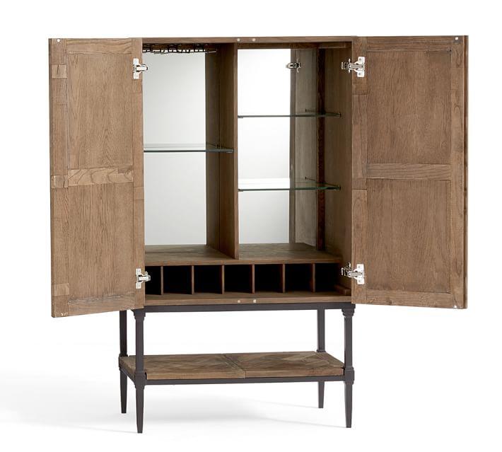 Parquet Bar Cabinet Bar Furniture Pottery Barn