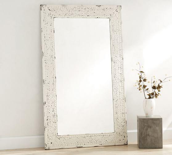 Tehama Wood Floor Mirror Standing