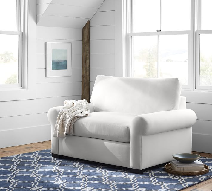 Turner Roll Arm Upholstered Twin Sleeper Sofa With Memory
