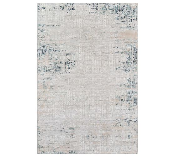 Krista Synthetic Rug Blue Pottery Barn