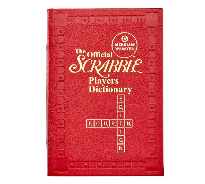 Leather Scrabble Dictionary   Pottery Barn