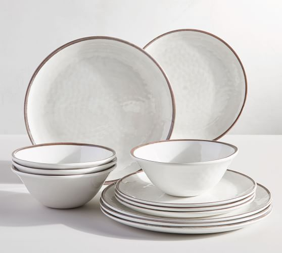 Swirl Melamine 12-Piece Dinnerware Set