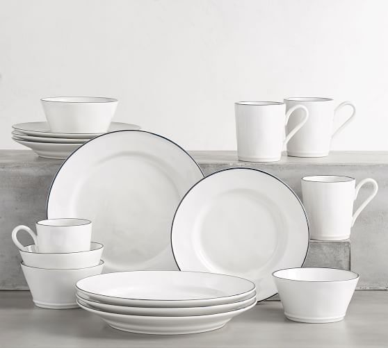 Costa Nova Beja Rimmed 16-Piece Dinnerware Set