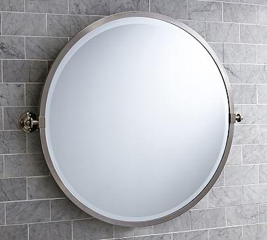 Kensington Pivot Round Wall Mirror Pottery Barn