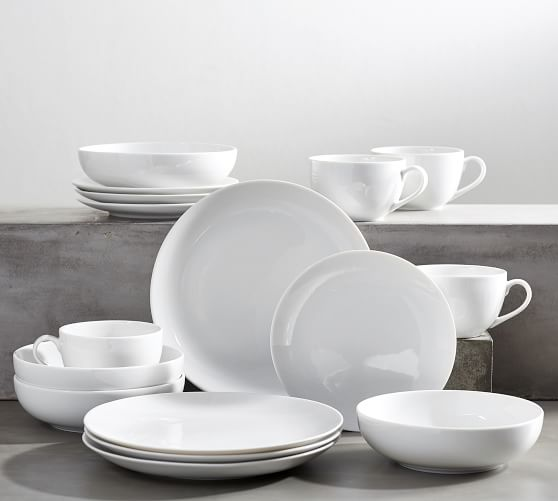 Classic Coupe Porcelain 16-Piece Dinnerware Set
