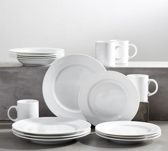 Classic Rim Porcelain 16-Piece Dinnerware Set