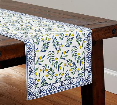Jardin Lemon Table Runner Pottery Barn