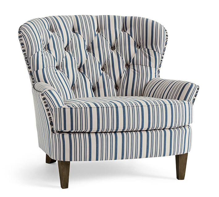 Cardiff Upholstered Tufted Armchair With Nailhead