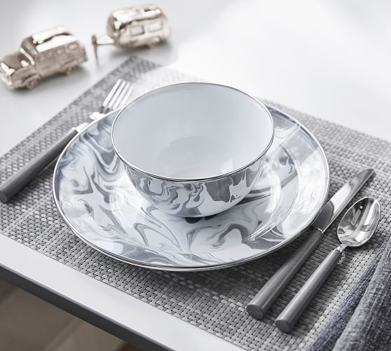 Airstream Marbled Enamel 6-Piece Dinnerware Set