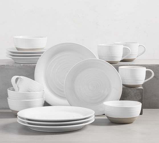Quinn Handcrafted Stoneware 16-Piece Dinnerware Set