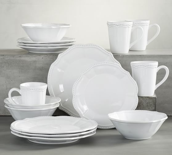 Leila Handcrafted Stoneware 16-Piece Dinnerware Set