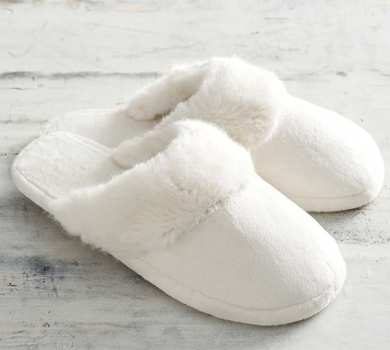 Faux Fur Slippers Pottery Barn