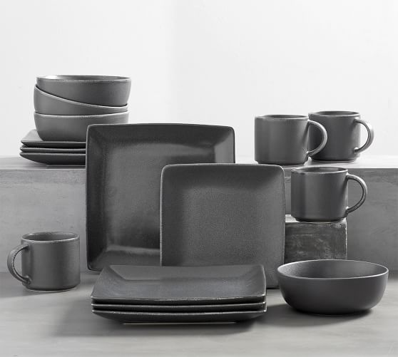 Mason Square Stoneware 16-Piece Dinnerware Set