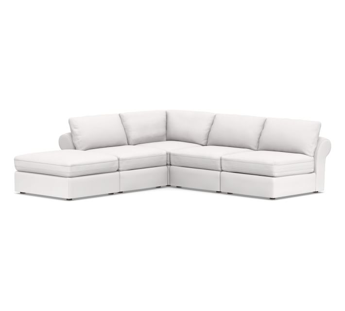 Pb Air Roll Arm Upholstered 5 Piece Armless L Shaped