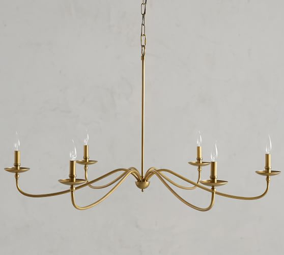 Lucca Iron Chandelier Pottery Barn