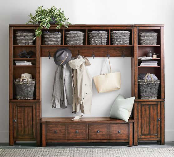 Benchwright Entryway Storage Bench Pottery Barn,Wall Paint Design Ideas With Tape