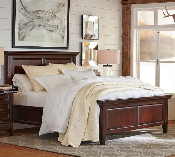 Hudson Bed Wooden Beds Pottery Barn,Living Room Arts And Crafts Interiors