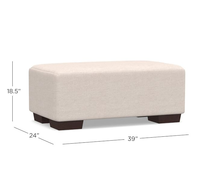 Sullivan Deep Roll Arm Upholstered Ottoman | Pottery Barn