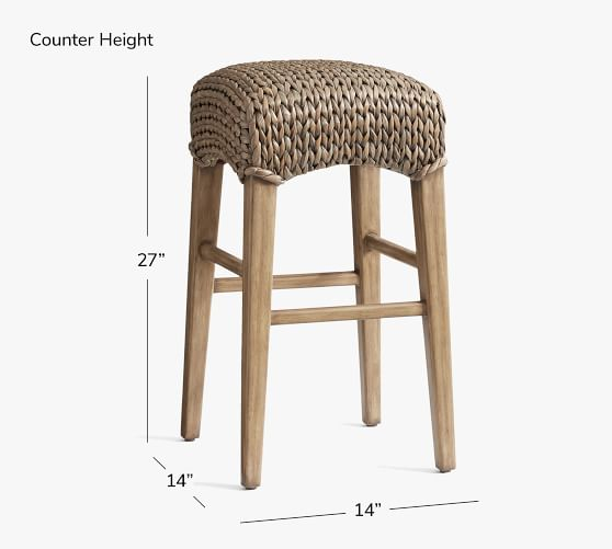 Bar Stools And High Table, Seagrass Backless Counter Stool Pottery Barn