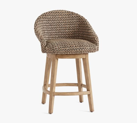 Bar Stools And High Table, Seagrass Bucket Swivel Counter Stool Pottery Barn
