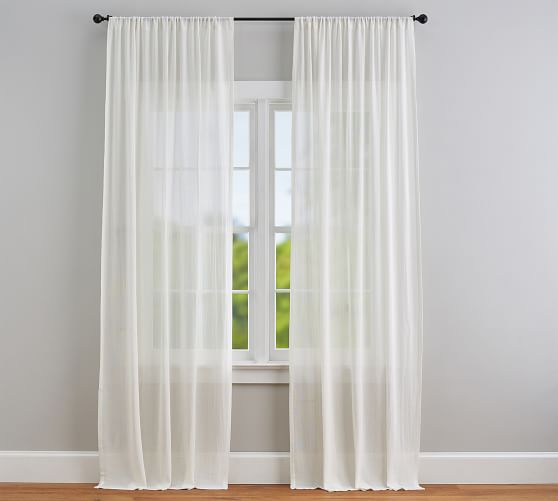 Cotton Gauze Sheer Curtain Pottery Barn,One Bedroom Apartments In Northern Va