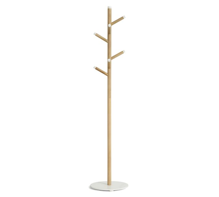 Grace Mango Wood & Marble Coat Rack | Pottery Barn