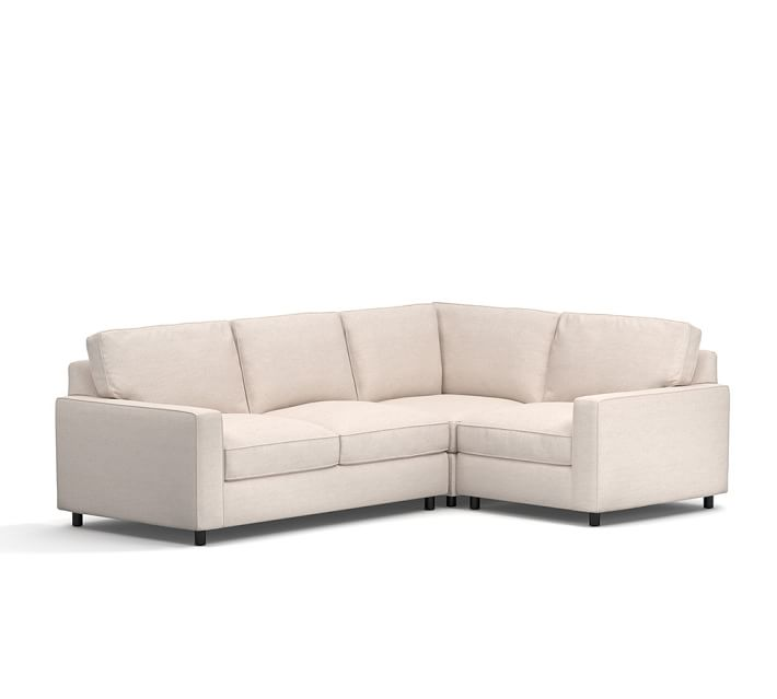 Pb Comfort Square Arm Upholstered 3 Piece Sectional
