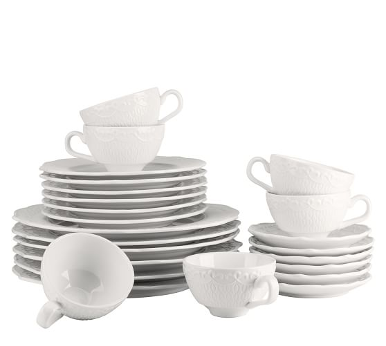 Ever Porcelain 24-Piece Dinnerware Set