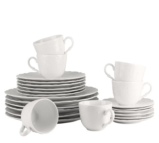 Valentina Porcelain 24-Piece Dinnerware Set