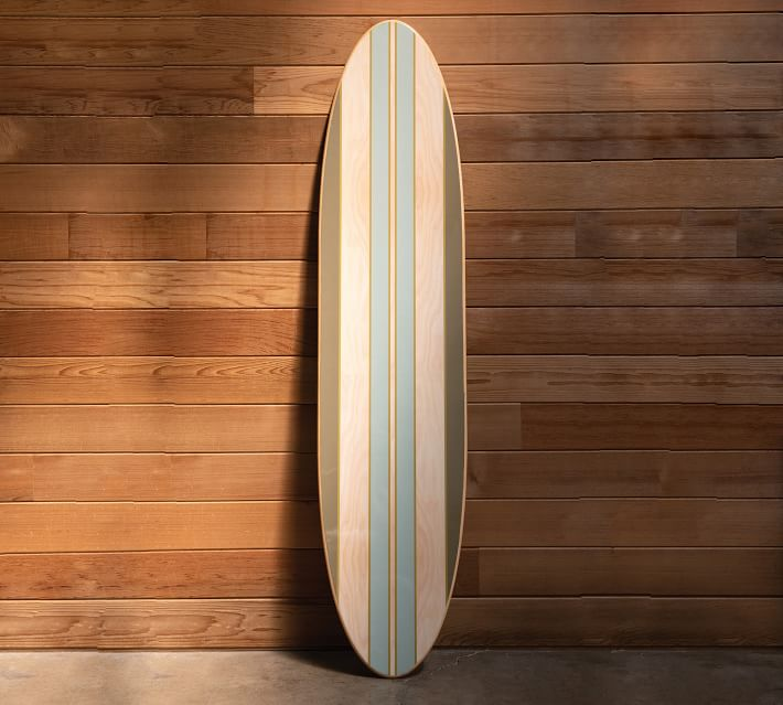 Striped Wooden Surfboard Wall Décor, 5""